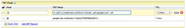 godaddy-spf-google